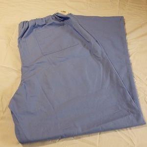 Simple light blue 2x Scrub Pants NEW